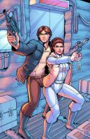 Han And Leia Colored By J Skipper by DStPierre