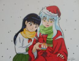 Inuyasha and Kagome Christmas by LadyNin-Chan