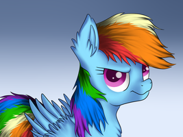 Rainbow Dash speedpaint by LuminousDazzle
