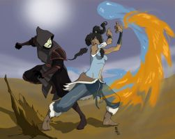 Korra Vs Amon by MatthewMcIntosh