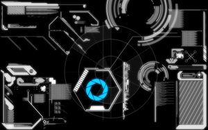 Portal Interface Wallpaper by Caleb1117