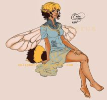 bee fairy girl by solipherus
