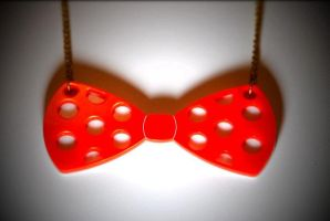 Poker Dot Bowtie Necklace by CMDCustom