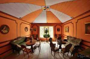 Orange living room by Pajunen