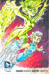 Fire And Ice DC Oversized Sketch Card by andypriceart
