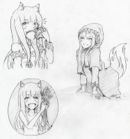 Horo sketches by Kurysu
