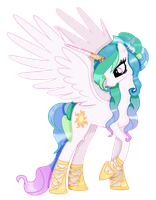 mlp Princess celestia my style by Cloudilicious