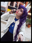 (MLP) Ms.Rarity's Business Call Cosplay by KrazyKari