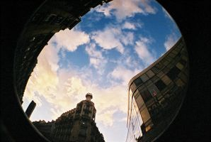 Lomo fisheye 2 - 3 way sky by bubus666