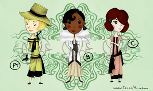 ADOPTABLES batch 1920s Girl {OPEN 2/3} by arinadream