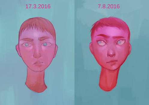 Draw this again! Meme (five months apart) by Lumijus