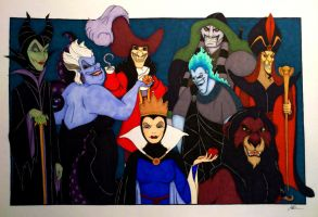 Disney villains by wiegand90