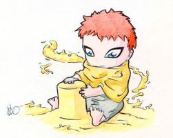 Chibi's attack. Gaara by NamedYoro