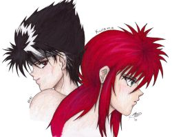 Hiei and Kurama by KiKi-the-Angel