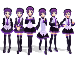 : MMD : Nanami Defoko versions by PuniPudding