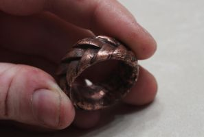 Antique Copper Ring by Hands-and-Teeth