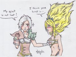 LoL - Riven Janna by BurstAngel