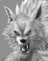 Alpha Werewolf WIP detail by Alicemonstrinho