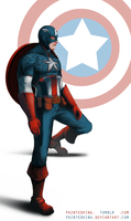 Steve Rogers / Captain America Fan-art by PaintedKing
