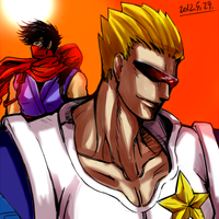 strider hiryu and captain comando by mayrazzang
