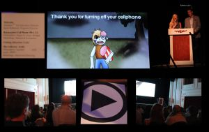 My animation on the big screen. by Kikitwou