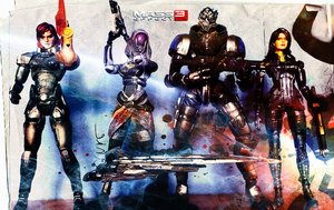 Mass Effect Action Figure Wallpaper by suicidebyinsecticide