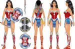 Wonder Woman from Earth 52 - Style Sheet by godstaff