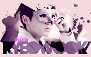 Ryeowook - Splatter Wallpaper by JadeRiverJR