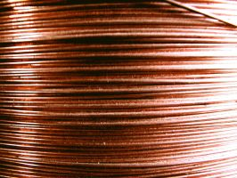 Coiled Copper Wire Texture by FantasyStock