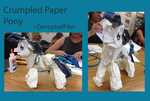 Crumpled Paper Pony by CorruptedFiles