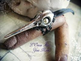 L'oiseau Aux Yeux Morts, another goth ring by Verope