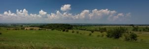 Panorama as Clouds Build by GreyVolk