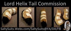 Lord Helix Fursuit Tail Commission by SaltyPuppy