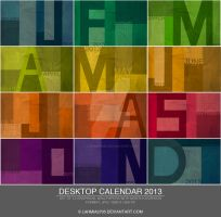 Preview: Graphical Desktop Wallpaper Calendar 2013 by Lavinia1988