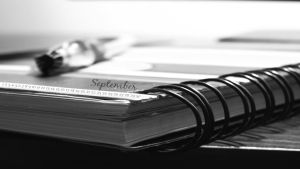 September calender_ Note book by beanphotogi