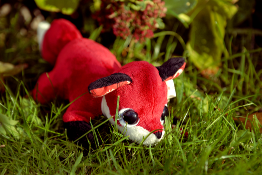 Paisley Fox Tea Party Plushie - Customs Available. by tiny-tea-party