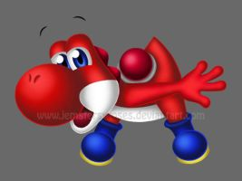 Little Red Yoshi by JemstersxRoses