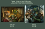 Draw this again! meme by GalooGameLady