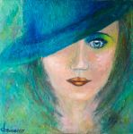 The woman with hat by Leina1