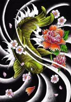 Custom tattoo koi fish design by WillemXSM