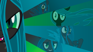 Queen Chrysalis 'Classic Style' Wallpaper by BlueDragonHans