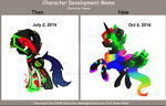 Then and Now Prince neon by Demonoid-Diamond