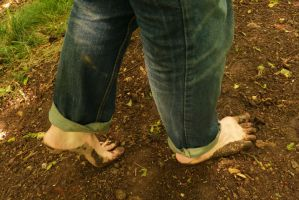 Woodland walk barefoot 2 by PhilsPictures