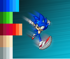 -Colored- Sonic the Hedgehog by Advent-Axl