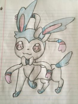 Super cute shiny slyveon by celebi64