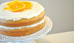 Orange Cream Cake III by TantalizedBaker
