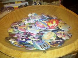 Bowl of 100+ Poni Pins by sparklepeep