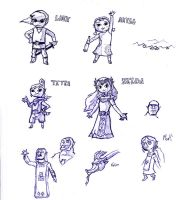 Zelda Windwaker sketches by Count-Archek-Brauer