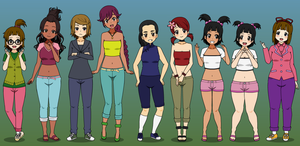 Some More TD Girls in Kisekae style by Harmony-Borealis