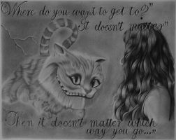 Alice meets the Cheshire Cat by lucky-louie